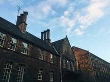 stone buildings and exterior windows in Scotland