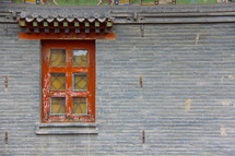 window on a tibetan monastery