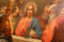 Jesus giving communion