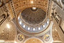 The dome of St. Peter's Basilica in Vatican City