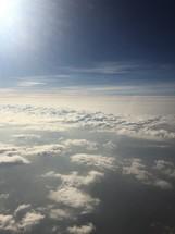 Sunshine on clouds.