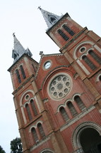brick church steeples