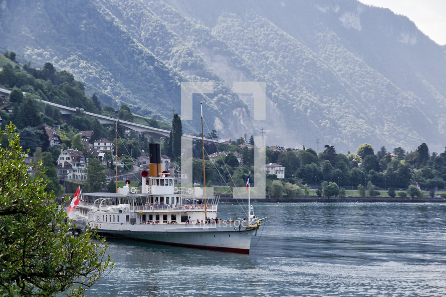 ferry boat in Switzerland