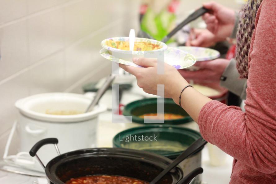 soup kitchen volunteers