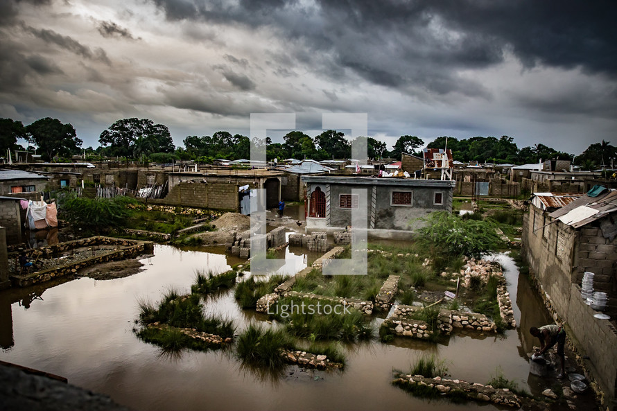 flooded island community