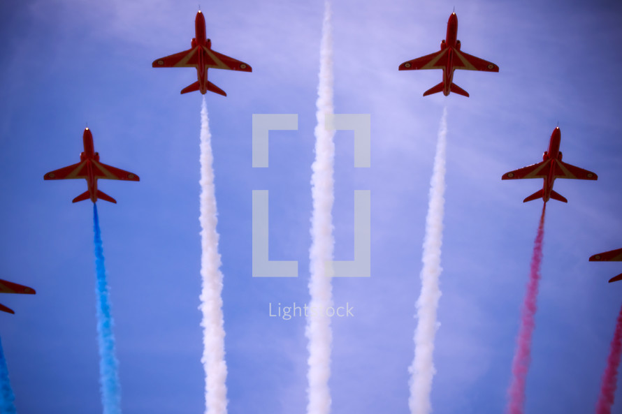 patriotic display by jets