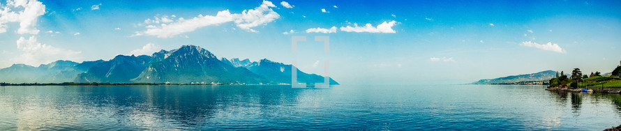 panoramic view of mountains in Switzerland