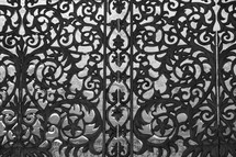 decorative iron screen