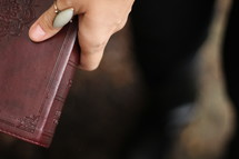 woman with a Bible in her hand