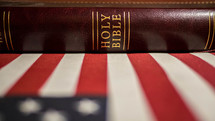 Bible and American flag