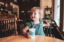 toddler drinking