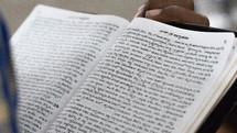 reading a Hindi Bible