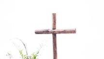cross against an overcast sky