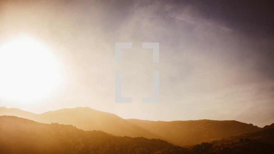 sunlight on a mountain top