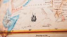 Arabian Sea on a map