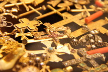 gold cross pendants
