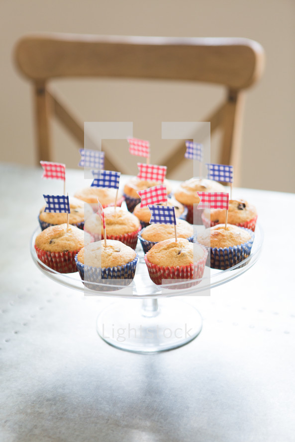 blueberry muffins for the fourth of July