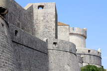 Castle walls and strong towers
