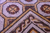 Mosaic tiles from a Roman villa