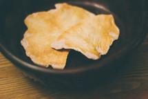 Host bread in a bowl.