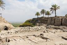 Ruins at Megiddo.