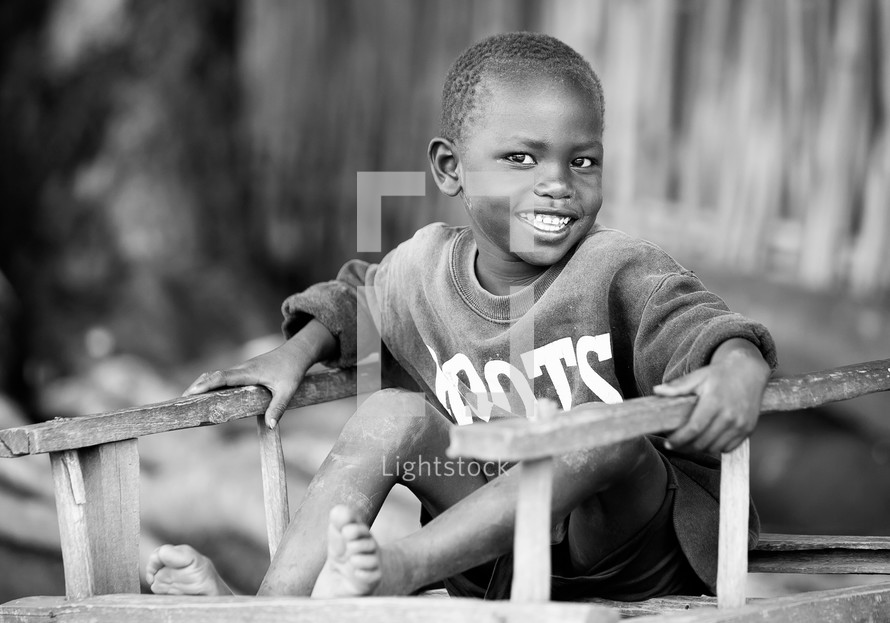 smiling boy child in Sudan, Africa