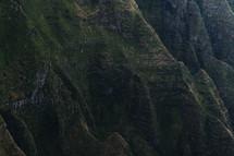 green mountainside