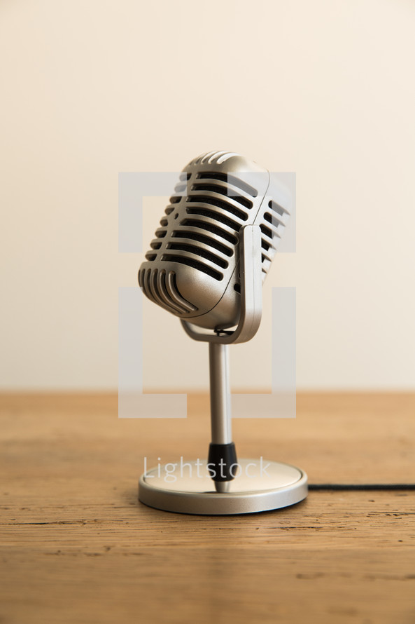 microphone on a table