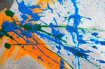 paint splatter on canvas