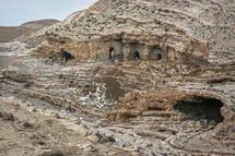 ancient homes built into cliffs