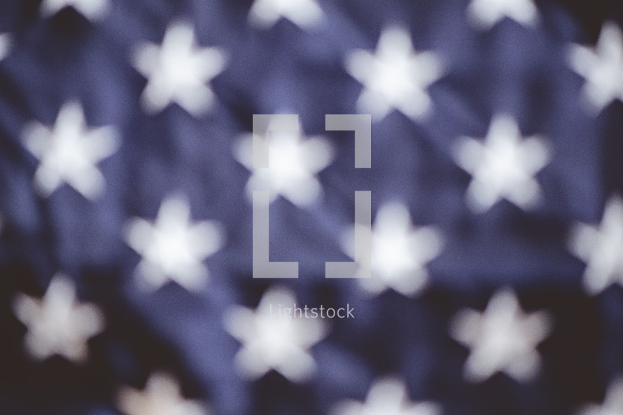 blurry Stars on an American flag