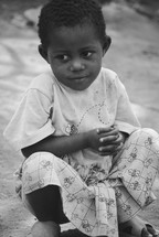 Young girl in Rwanda.