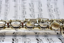 flute on sheet music