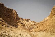 Valley in Masada, Israel