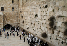 Prayers at the Wailing Wall