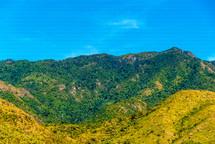 green gradient mountainside