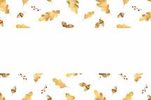 watercolor fall leaf border