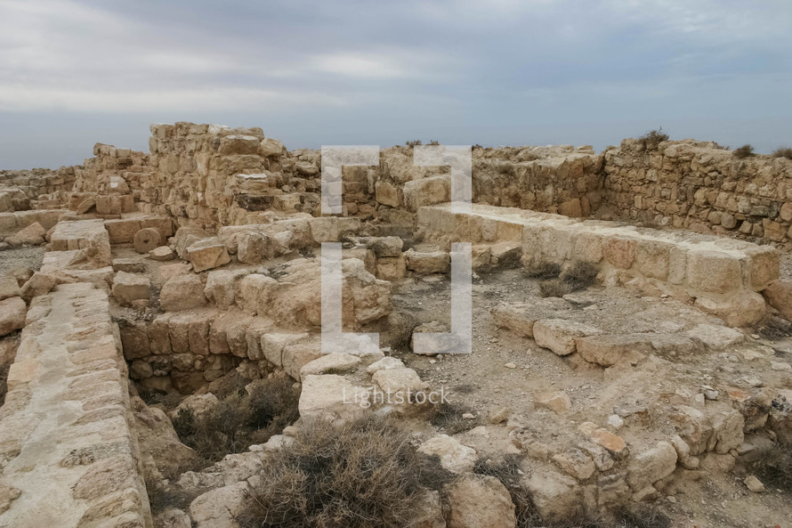 Ruins of the fortress where it is believed John the Baptist was beheaded by Herod