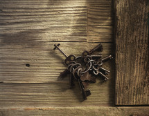 skeleton keys on a key chain