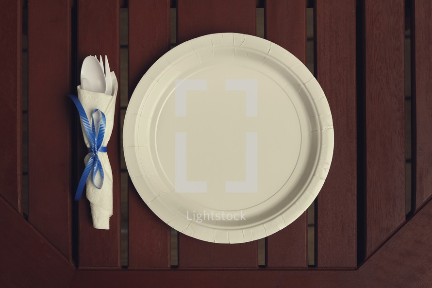 paper plate place setting