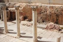 original Jerusalem street from centuries ago, dug out and far beneath current street level