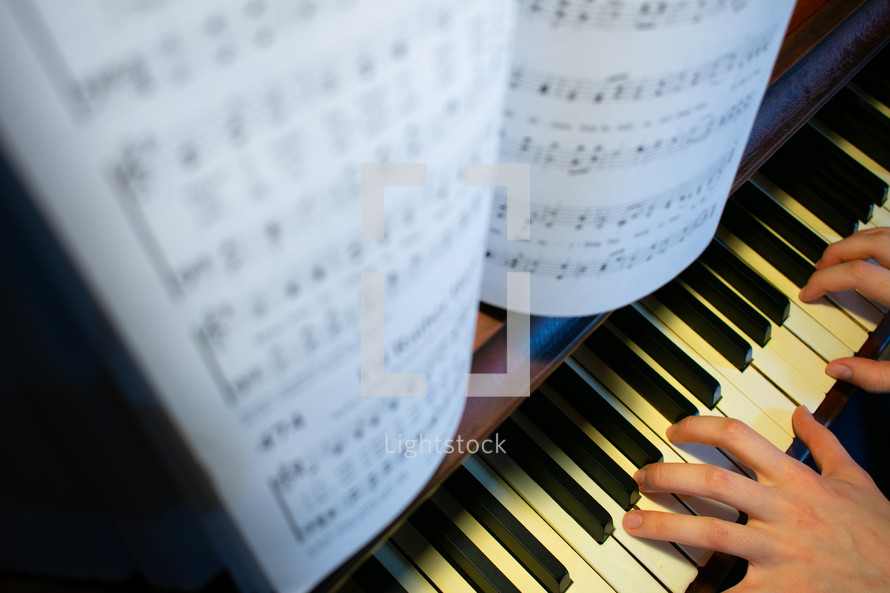 playing a piano
