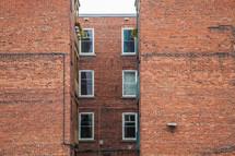 brick walls of a building