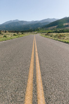center lines on a rural highway