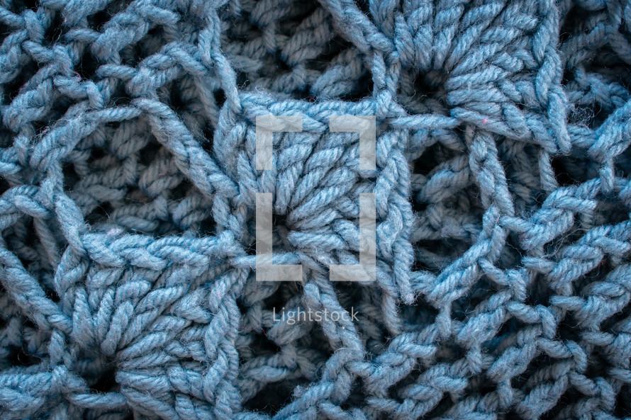 blue knit background