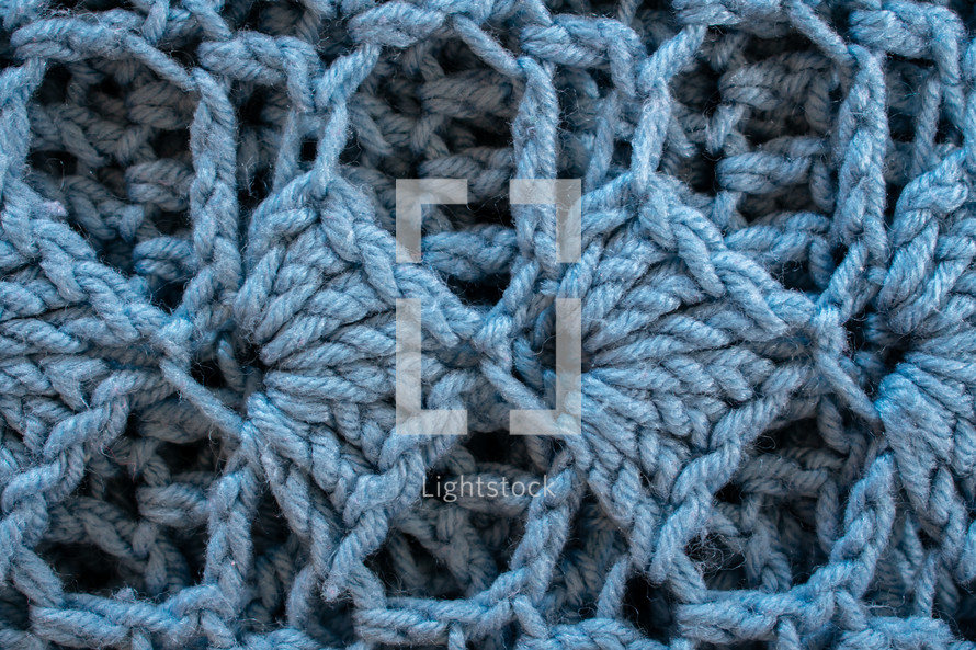 blue knit background