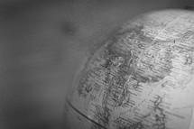China on a globe