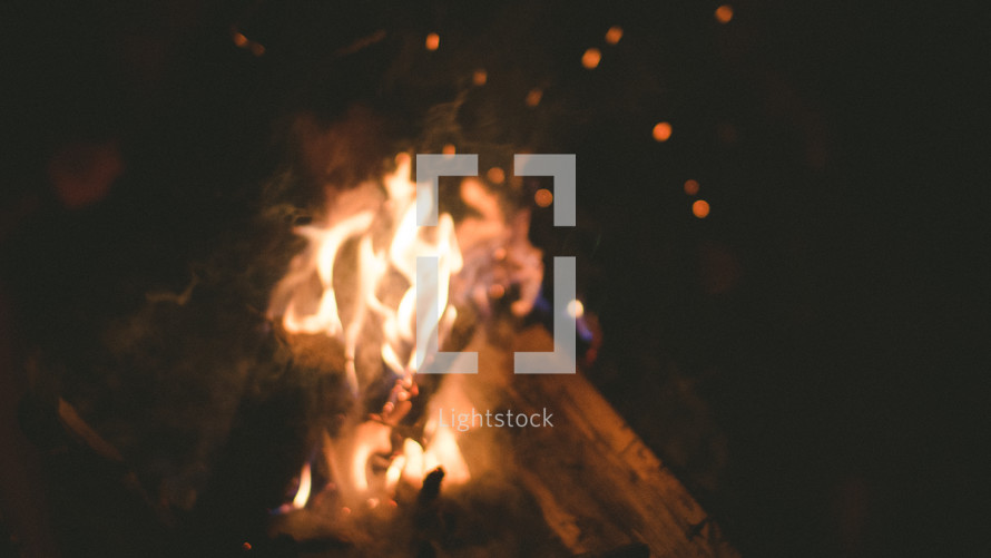 flames from a campfire