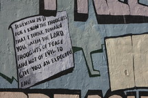 Scripture painted on wall