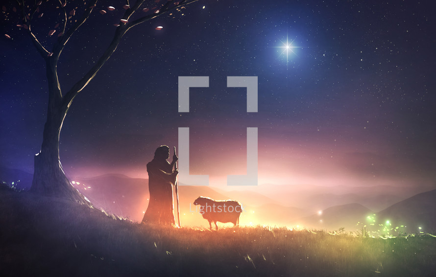 shepherd following the star of Bethlehem
